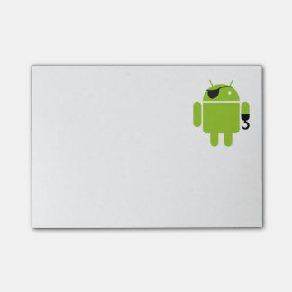Android Robot Icon as a Pirate Post-it® Notes