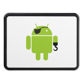Android Robot Icon as a Pirate Trailer Hitch Covers