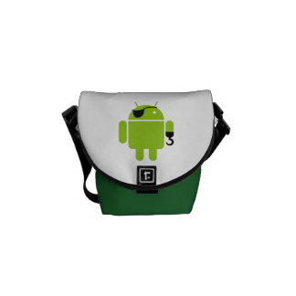 Android Robot Mighty Pirate Messenger Bag