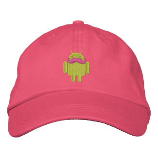 Android Robot Mustache Embroidery Embroidered Baseball Cap