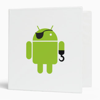 Android Robot Pirate Binder