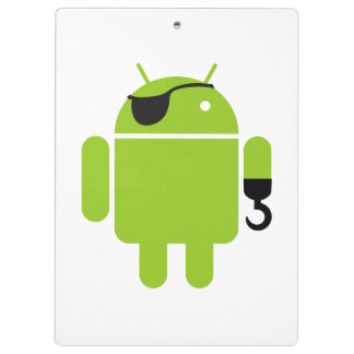 Android Robot Pirate Clipboards