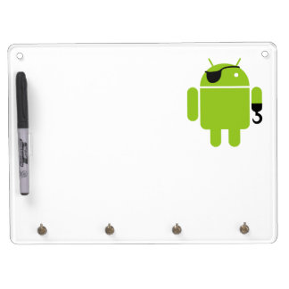 Android Robot Pirate Dry-Erase Whiteboard