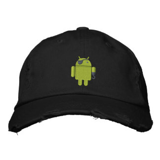 Android Robot Pirate Embroidery Embroidered Baseball Hat