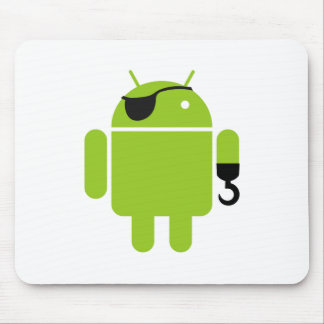 Android Robot Pirate Graphic Mouse Pad
