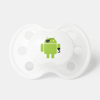 Android Robot Pirate Graphic Pacifier
