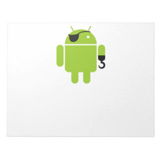 Android Robot Pirate Scratch Pad