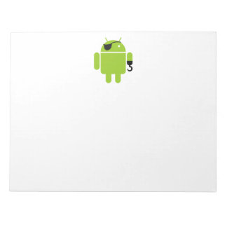Android Robot Pirate Notepad