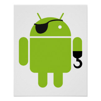 Android Robot Pirate Poster