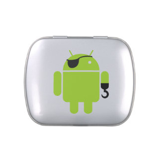 Android Robot Pirate Style Jelly Belly Tin