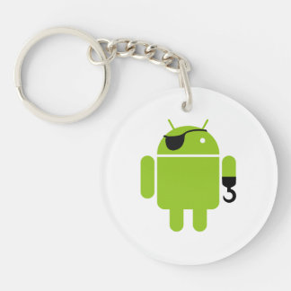 Android Robot Pirate Style Keychain
