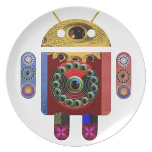 ANDROID Robot Party Plate