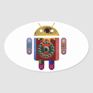 ANDROID Robot Oval Sticker