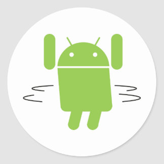 Android – Shake your booty Classic Round Sticker