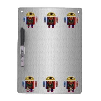 ANDROID Silver Chrome Sparkle Base Dry Erase Board