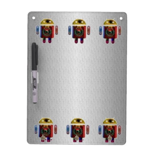 ANDROID Silver Chrome Sparkle Base Dry-Erase Boards