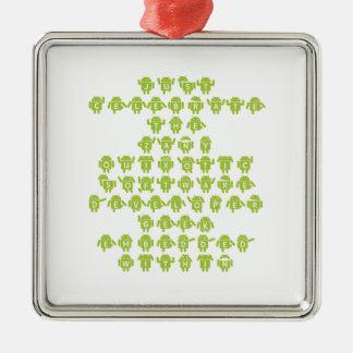 Android Software Developer Robot Font (Upper Case) Christmas Tree Ornament