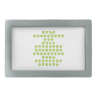 Android Software Developer Robot Font (Upper Case) Rectangular Belt Buckle