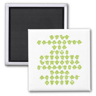 Android Software Developer Saying (Upper Case) 2 Inch Square Magnet