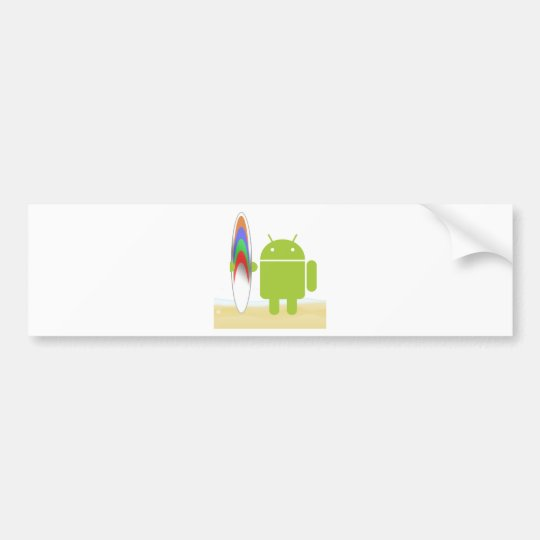 Android Surfer Bumper Sticker