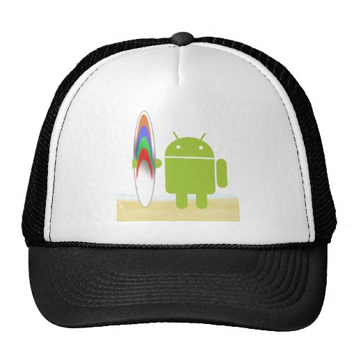 Android Surfer Trucker Hats