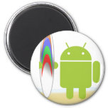 Android Surfer Magnet