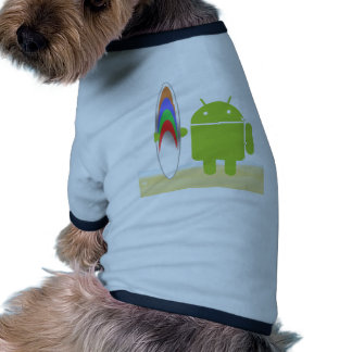 Android Surfer Pet T-shirt