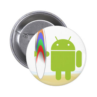 Android Surfer Pinback Button