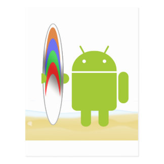 Android Surfer Postcard