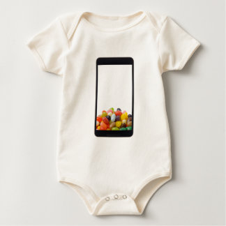 Android tablet with jelly bean baby creeper