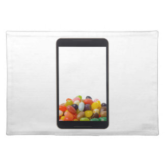 Android tablet with jelly bean cloth placemat