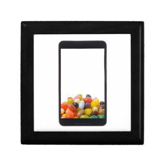 Android tablet with jelly bean keepsake box