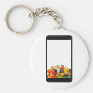 Android tablet with jelly bean keychain