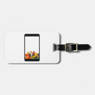 Android tablet with jelly bean luggage tag