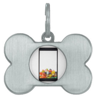 Android tablet with jelly bean pet tag