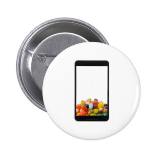 Android tablet with jelly bean pinback button