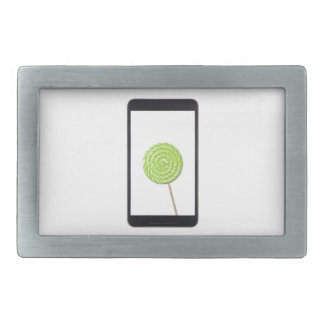 Android tablet with lollipop rectangular belt buckles