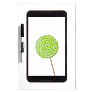 Android tablet with lollipop dry erase whiteboards