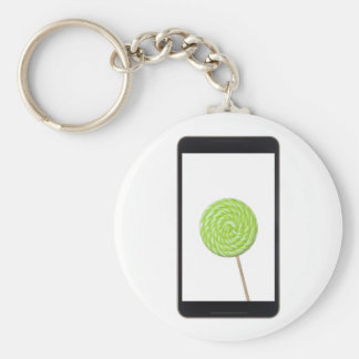 Android tablet with lollipop keychain