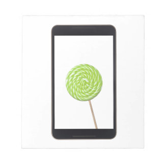 Android tablet with lollipop note pads