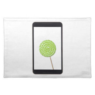 Android tablet with lollipop cloth place mat