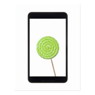 Android tablet with lollipop postcard