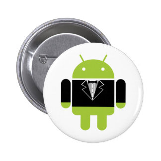 Android Tux 2 Inch Round Button