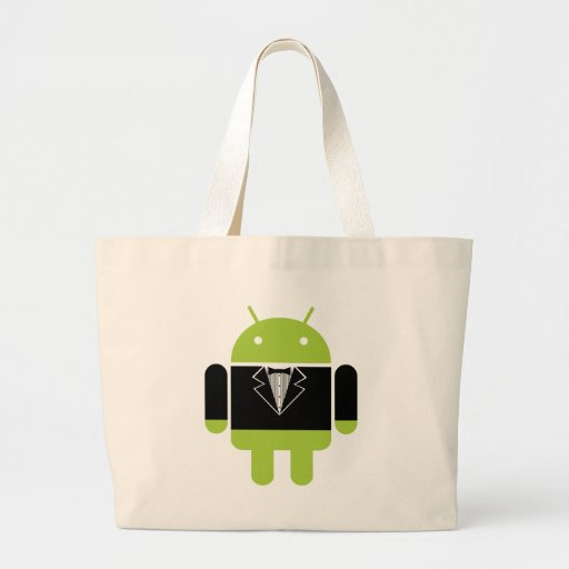Android Tux Large Tote Bag