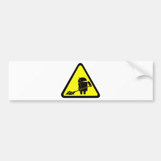 Android under construction bumper sticker