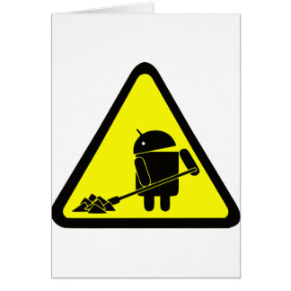 Android under construction cards