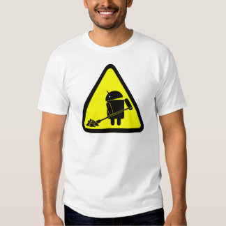 Android under construction tee shirt