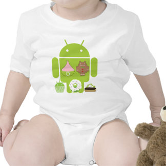Android Versions Baby Bodysuits