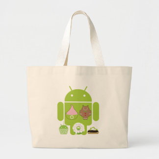 Android Versions Canvas Bag