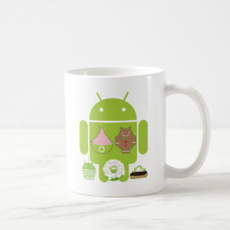 Android Versions Classic White Coffee Mug